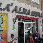 Alhambra cafe across the street