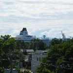 One of the HUGE cruiseships that came & went