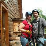 My husband and I just about to go Zip Lining!