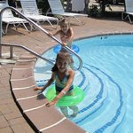 My girls using the pool.