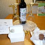 Anniversary wine and chocolates on arrival