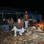 A night by the fire, Kinzua Pa.