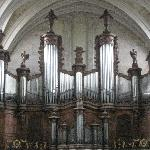 organ inside the church/cathedral