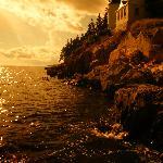 Bass Light house at sunset