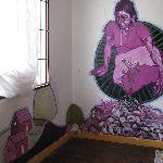 Room 9 - an artist painted the room dedicated to Rufina Amaya.