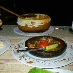 Ottoman Casserole in town. Chicken, Beef, Lamb pieces and veg. Yummy