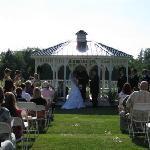Gazebo Wedding At The Belle House