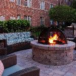 Beautiful Fire Pit with Grill for guests to enjoy