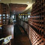 Inside Brasa's Wine Room