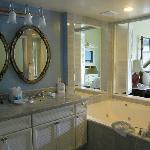 bathroom of the arden Suites