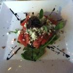 heirloom tomato and blue cheese salad- a favorite of ours