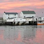 Le petit port d'Hamnoy vers minuit