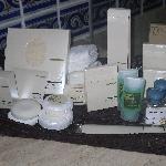 Impressive array of toiletries in room