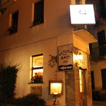 Osteria degli Amici at night