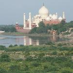 Taj Mahal as seen from Agra Fort