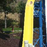 My daughter on the slide, you get a better idea of their size this way.