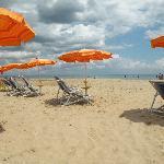 La spaziosa spiaggia