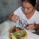 tuk eating at hemlock, BKK