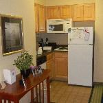 kitchenette in an efficiency.  Plenty of space and all kitchen amenities provided