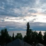 Sunset over Cook Inlet from our room