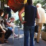 Outside Al Ghezz with a cool Birra Dolomiti!