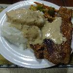 ♥夕食〝サザ&牛肉ステーキ〟