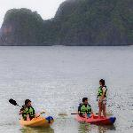 Kayaking is one of our favorite activities in El Nido Miniloc.
