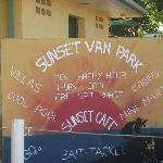 Karumba Sunset Caravan park entrance sign