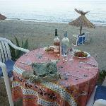 Evening meal overlooking the beach