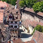 Albrecht Dürer Haus from the Kaiserburg Tower