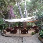 Restaurant in the garden.