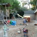 playground at the swimming pool