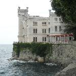Miramare Castle from the path up to it