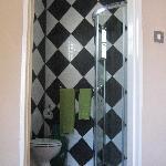 clean spacious shower