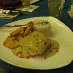 Fish in a coconut curry