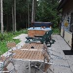 Sun terrace and hot tub