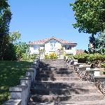 La facciata della Villa