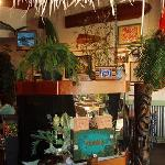 Tropical fish aquarium just inside the door
