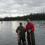 Fishing for Red Salmon on the Kenai River with flyrods