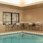 Enjoy our heated indoor pool features lounge chairs and tables as well as towels for your conven