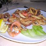 fritto misto (gamberi e calamari)