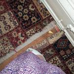 the carpet we kept triping up on, as we came into the room