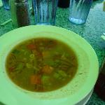 vegetable soup at ESM