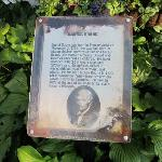 a plaque about Daniel Boone