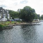 view from the boat  on windermere