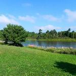 Le lac devant la maison