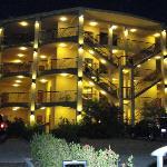 Vista de noche condominios