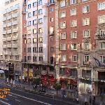 Madrid ~ Hostal Buenos Aires ~ Gran Vía from room 101