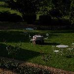 Le jardin avant le petit-dejeuner