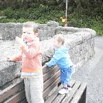 kids at the lower dam